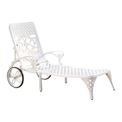 Home Styles - Home Styles Biscayne Chaise Lounge Chair in White - Home Styles - Patio Lounges - 555283 - Create an intimate conversation area with Home Styles� Biscayne Chaise Lounge Chair.