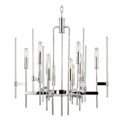 HUDSON VALLEY LIGHTING - Hudson Valley Lighting Bari-Chandelier Polished Nickel - Free Shipping