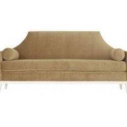 Eco First Art 3 - Tailored, clean lines highlight the elegance of this petite sofa. Scaled for an intimate setting, this sofa features a charming, high back silhouette with a single bench cushion and pair of bolster pillows to polish it off. Custom lengths available.