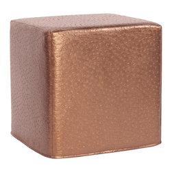 Howard Elliott - Howard Elliott Ostrich Copper No Tip Block Ottoman - No tip block ostrich copper