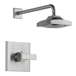 Delta - Arzo Monitor 14 Series Shower Trim with Single Function Showerhead - Delta T14286-SS Arzo Monitor 14 Series Shower Trim with Single Function Showerhead in Stainless.