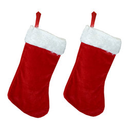 Four Seasons - Red Christmas Stocking Set Holiday Decorations - FEATURES: