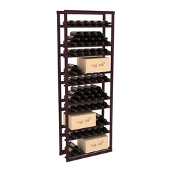 Wine Racks America - Baker Style Case/Bottle Rack in Redwood, Burgundy Stain - This wine rack kit is a versatile and beautiful addition to your wine cellar. This rock solid kit withstands extensive use of storing bottles and cases together in one place. That's a guarantee. As a freestanding solution or included with a complete wine cellar, you'll love this rack.