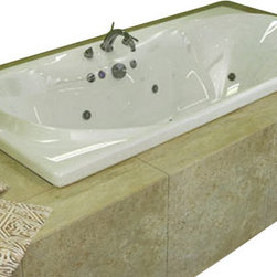 Spa World Corp - Atlantis Tubs 4272WDR Whisper 42x72x23 Inch Rectangular Air & Whirlpool Jetted - The interior of the Whisper is sensual and curvaceous, while maintaining a rectangular outline. The center drain allows you to lie back comfortably on either end of the tub, while the smooth curves of the Whisper series create a seat like effect for ultimate relaxation and comfort.