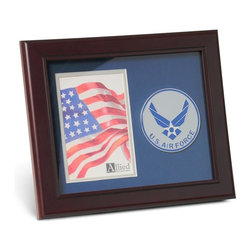 Aim High Air Force Portrait Picture Frame - 10-Inch by 12-Inch Military Portrait Picture Frame