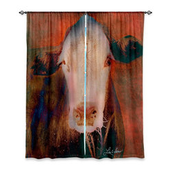 "DiaNoche Designs - Window Curtains Unlined by Lisa K Stokes - Ima Cowgirl I - Purchasing window curtains just got easier and better! Create a designer look to any of your living spaces with our decorative and unique ""Unlined Window Curtains."" Perfect for the living room, dining room or bedroom, these artistic curtains are an easy and inexpensive way to add color and style when decorating your home.  This is a tight woven poly material that filters outside light and creates a privacy barrier.  Each package includes two easy-to-hang, 3 inch diameter pole-pocket curtain panels.  The width listed is the total measurement of the two panels.  Curtain rod sold separately. Easy care, machine wash cold, tumbles dry low, iron low if needed.  Made in USA and Imported."