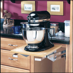 Rev-A-Shelf Mixer/Appliance Lift Mechanism - This after-market mixer lift mechanism from Rev-a-Shelf can free up precious counter space in your kitchen.  It's ideal for home cooks who don't use their mixers regularly, but hesitate to store them away because of their weight.  This system solves that problem!