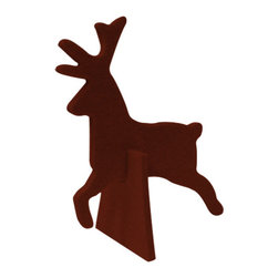 The Felt Store - Decorative Felt Reindeer With Stand - Brown - The Felt Store's Decorative Reindeer is the perfect home decoration item and a great craft accessory for kids. It is made from our high-quality 5mm designer felt and measures approx. 4 inches x 4.5 inches(101.6mm x 114.3mm). Combine the Reindeer with our other Home Decor items and add some christmas atmosphere to your room or dining table. Also available in different colors.