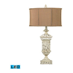 Dimond Lighting - Dimond Lighting Morgan Hill Table Lamp in Distressed White - LED Offering Up To - Table Lamp in Distressed White - LED Offering Up To 800 Lumens belongs to Morgan Hill Collection by Dimond Lighting Lamp (1)
