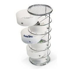 Taymor - Six Drawer Storage Tower, Chrome - Taymor's Six Drawer Storage Tower sits conveniently on the countertop or even mounts to the wall. Great for hair accessories and other small bathroom items. All drawers are removable for easy cleaning.