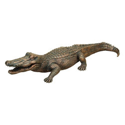 Benzara - Polystone Alligator 13in. Wide - If you are looking for low cost but rare to find elsewhere garden decor item to bring extra galore to your lawn party scenes, beautifully carved 75442 POLYSTONE ALLIGATOR may be a good choice.