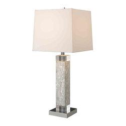 Dimond Lighting - Dimond Lighting D1412 Luzerne Mother of Pearl Table Lamp - Dimond Lighting D1412 Luzerne Mother of Pearl Table Lamp