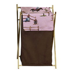 "Sweet Jojo Designs - Western Cowgirl Hamper - The Western Cowgirl Hamper by Sweet Jojo Designs will add a designers touch to any childs room. This childrens laundry clothes hamper has a wooden frame, mesh liner, and a fabric cover.The removable hamper body is secured to the wooden frame with corner loops and Velcro. The wooden stand folds flat for space-saving storage and the removable mesh liner is great for toting laundry.Dimensions: 15.5"" Length x 16"" Width x 26.5"" Height.If you like the Western Cowgirl Hamper Hamper, dont forget to check out the other items in the collection."