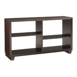 """Sherrill Occasional - Sherrill Occasional 42"""" Bookcase Console 350-470 - Like the assymetrical bookcase this console provides unique storage capabilities and can be used in multiples."""