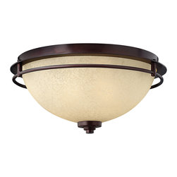Hinkley Lighting - Stowe 2-Light Flush Mount - Modern styling combined with Canyon Rain Scavo glass give the Stowe collection its wonderous appeal. Comes in Metro Copper finish. Takes 2 75 Watt Medium Bulbs.