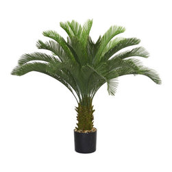 Laura Ashley - Laura Ashley 48-inch Cycas Palm Tree - Bring your home or office decor to life with this timeless Laura Ashley cycas palm tree. This hassle-free plant resembles a real life palm tree,but without the maintenance.