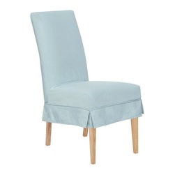 Home Decorators Collection - Parsons Chair Short Cover - Our Parsons Chair Short Covers let you change the look of your Parsons Chairs without having to purchase new ones. These chair covers remove easy for cleaning, or when you want to change things up a bit. Solution dyed acrylic fabric. Easily removed and cleaned. Fits the Universal Parsons Chair sold separately.
