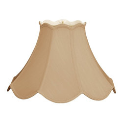 Royal Designs, Inc. - Scalloped Bell Designer Lampshade - This Scalloped Bell Designer Lampshade is a part of Royal Designs, Inc. Timeless Designer Shade Collection and is perfect for anyone who is looking for an elegant yet detailed lampshade. Royal Designs has been in the lampshade business since 1993 with their multiple shade lines that exemplify handcrafted quality and value.