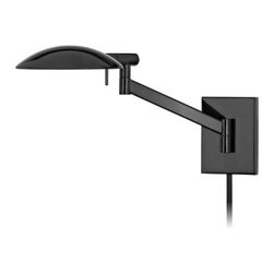 "Sonneman - Sonneman 7085 Perch 1 Light 10"" Height Plug-In Swing Arm Xenon Wall Sconce - Sonneman 7085 Perch 1 Light 10"" Height Plug-In Swing Arm Xenon Wall SconcePerch Pharmacy Swing Arm Wall Lamp has a boldly scaled shade: rotating on two axes, the slimly profiled silhouette radiates a broadly spread distribution of comfortable light for reading or concentrating on the task at hand.Sonneman 7085 Features:"