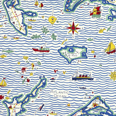 Out To Sea Map – Fair Weather - Children's - Fabric - Products - Ralph Lauren Ho