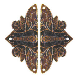 Notting Hill DH - Cicada on Leaves Hinge Plates in Dark Solid Bronze (NHH920-DBZ) - Cicada on Leaves Hinge Plates in Dark Solid Bronze