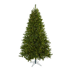 Nearly Natural - 7.5' Windermere Christmas Tree with Clear Lights - Elegance personified, and a classic holiday look - that's exactly what this Windermere Christmas Tree brings to your home or office. Standing tall (90', which is seven and a half feet), and wide (55'), this proud tree has 1285 tips, and 550 clear lights (that stay lit even if one burns out). Ready for decorating (or beautiful on its own), this tree will light your holiday spirit for years to come.