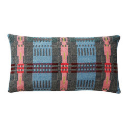 Donna Wilson, SCP - Rectangle Bora Da Pillow - Peach  - Donna Wilson, SCP - Bora Da is the new traditionally made Welsh textile designed by Donna Wilson for SCP, it follows on from the popular Nos Da collection from the same mill. The Bora Da fabric is made from British wool that is specially spun and dyed in England and then woven in Wales by a traditional mill that has been in the same family for over a century. Bora Da uses a single ply fine wool, which is both soft and strong. The result is a fine fabric that is lighter in nature than its sister fabric Nos Da. Using a time-honored double cloth weaving technique Donna has been able to create a pleasing multi-layered aesthetic, full of character. SCP and Donna Wilson are delighted to tap into the rich thread of British textile. Made in the UK. Each pillow has a 100% feather insert.