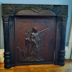 Nautical Antiques - Fireplace surround – goddess and anchor insert