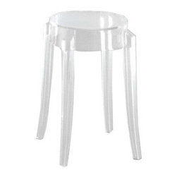 Kartell - Charles Ghost Low Stool - Quick Ship | Kartell - Design by Philippe Starck, 2005.