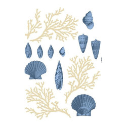 WallPops - Atlantic - Komar Living Multicolor - LV19001 - Shop for Stickers from Hayneedle.com! Dress up your master bath or cottage with the Atlantic - Komar Living decals. These removable and reusable wall decals create the look of a custom wall mural in an instant -- simply peel and stick!