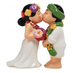 "Westland - 4"" Hawaiian Couple Kissing with Eyes Closed Salt and Pepper Shakers - This gorgeous 4"" Hawaiian Couple Kissing with Eyes Closed Salt and Pepper Shakers has the finest details and highest quality you will find anywhere! 4"" Hawaiian Couple Kissing with Eyes Closed Salt and Pepper Shakers is truly remarkable."