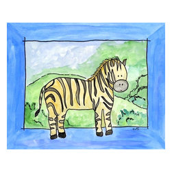 Oh How Cute Kids by Serena Bowman - Zebra, Ready To Hang Canvas Kid's Wall Decor, 20 X 24 - Every kid is unique and special in their own way so why shouldn't their wall decor be so as well! With our extensive selection of canvas wall art for kids, from princesses to spaceships and cowboys to travel girls, we'll help you find that perfect piece for your special one.  Or fill the entire room with our imaginative art, every canvas is part of a coordinating series, an easy way to provide a complete and unified look for any room.