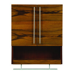 "DecoLav - Decolav 5261-BLM Mila Wall Mounted Cabinet in Black Limba and Mahogany - Decolav 5261-BLM Mila Wall Mounted Cabinet in Black Limba and MahoganyDECOLAV's Mila Collection is enhanced with exotic veneer, it is sure to be a great focal point of ambiance for your bathroom. The Mila 22""Wx9""Dx26""H Wall Mounted Cabinet has stainless steel hardware and towel bar. Available in 2 finishes and works seamlessly with multiple design configurations.Decolav 5261-BLM Mila Wall Mounted Cabinet in Black Limba and Mahogany, Features:&#149 Part of the Mila Bath Furniture Collection"