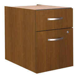 Bush - Bush Series C 3/4 File Pedestal in Warm Oak - Bush - Filing Cabinets - WC67590 -