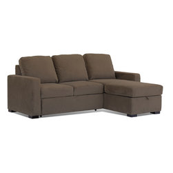 Lifestyle Solutions - Lifestyle Solutions Chelsea Convertible Sofa in Mocha - The Signature line features world class comfort and function. Every Signature convertible is built by combing soft contemporary and traditional looks with the excellence in comfort in seating and sleeping you have the signature line. Size, Shape, Multi- Function rule the Signature line, for inner-city or rural settings the signature line offers top notch alternatives to traditional sleepers, daybed, and futons.