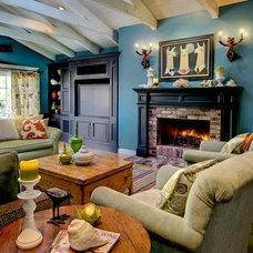Contemporary Family Room by Dean J. Birinyi Photography