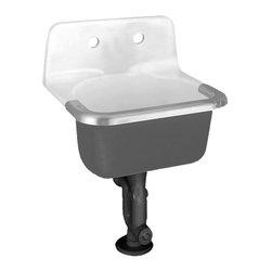 American Standard - American Standard Lakewell Enameled Cast Iron Service Sink, White (7692.008.020) - American Standard 7692.008.020 Lakewell Enameled Cast Iron Service Sink, White