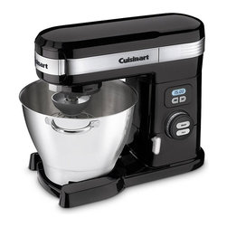 Cuisinart - Cuisinart SM-55BK Black 5.5-quart Stand Mixer - A Cuisinart stand mixer is a must-have for the serious chefHoused in durable die-cast metal,this stand mixer features a powerful 800-watt motorCuisinart mixer has 12 speeds for maximum versatility