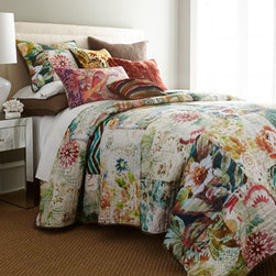 "Tracy Porter - Tracy Porter Standard Michaila Quilted Sham - With pattern upon pattern and texture upon texture—from cozy quilting to feather-plumped velvet—""Michaila"" bed linens are sure to take your breath away. By Tracy Porter. Quilted linens are cotton. Machine wash. Pleated pillow is polyester. C..."