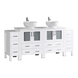 "Bosconi - Bosconi AW230RO2S 84"" Double Vanity - Bosconi AW230RO2S 84"" Double Vanity"