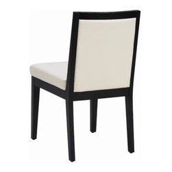 """Sunpan Modern - Paxton Parsons Chair (Set of 2) - Features: -Frame: Solid wood.-Material: Bonded leather.-Great for restaurant and contract applications.-Single tuft makes this dining chair both transitional and contemporary.-Finish: Matte black.-Please note that although every attempt has been made to ensure accuracy, all dimensions are approximate and colors may vary.-Please note that the leg color on Sunpan dining chairs does not always match the dining table color.-Paxton collection.-Collection: Paxton.-Distressed: No.Dimensions: -Seat height: 19"""".-Overall Product Weight: 0.186 lbs.Warranty: -This item is deemed acceptable for both residential and nonresidential environments such as restaurants, hotels, lounges, offices and reception areas. Please note that this item carries the manufacturer's standard ONE YEAR WARRANTY from the date of purchase. Please contact Wayfair customer service or sales representatives for further information."""