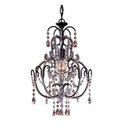 Minka-Lavery - Mini Crystal Chandelier No. 3123 by Minka-Lavery - The Minka Lavery Mini Crystal Chandelier No. 3123 rejuvenates small spaces by providing sparkling accent lighting accentuated by warm hues and opulent details. The Mini Crystal Chandelier No. 3123 features Crystal accents and Taylor Bronze finish.Minka-Lavery, recognized as a leader in modern elegance, offers decorative lighting with high quality craftsmanship in a variety of materials, including solid brass, wrought iron and cast aluminum. Located in Corona, CA, the Minka Group is branched into three providers that offer creative designs as well as timeless classics: Minka-Lavery lighting, Minka Aire fans and George Kovacs lighting.The Minka-Lavery Mini Crystal Chandelier No. 3123 is available with the following:Included Features:Crystal accents.Taylor Bronze finish.Ceiling canopy.72 Inch of chain.UL Listed.Lighting: One 60 Watt 120 Volt Medium Base Incandescent lamp (not included).Shipping:This item usually ships in 48 hours.