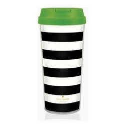 Thermal Mug - I'm loving green, black and white this season, so this travel mug is a great accessory to take with me to the market. And because we all want to get there early for the best items, this is perfect for a favorite morning beverage from the coffee vendor.