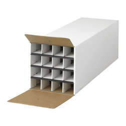 Safco - Safco Compact Tube-Stor KD 16 Compartment Wood Roll Files Storage in White - Safco - Filing Cabinets - 3098 - Great low-cost system for rolled document storage.