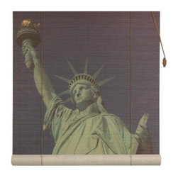 Oriental Unlimited - Statue of Liberty Bamboo Blinds (72 in.) - Choose Size: 72 in.Feature a lovely view of New York's Statue of Liberty. Easy to hang and operate. 24 in. W x 72 in. H. 36 in. W x 72 in. H. 48 in. W x 72 in. H. 60 in. W x 72 in. H. 72 in. W x 72 in. H