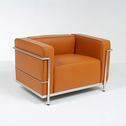 Modern Classics - Le Corbusier: LC3 Grande Lounge Chair Reproduction - Features: