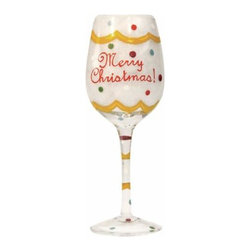 WL - Merry Christmas! Inscription Wine Glass with Festive Multicolor Design - This gorgeous Merry Christmas! Inscription Wine Glass with Festive Multicolor Design has the finest details and highest quality you will find anywhere! Merry Christmas! Inscription Wine Glass with Festive Multicolor Design is truly remarkable.