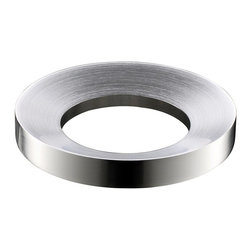 Kraus - Kraus Kitchen Accessory Brushed Nickel Mounting Ring - Make your sink more functional with this brass mounting ring. Characterized by a nickel finish, it's compatible with rounded-bottom Kraus vessel sinks without overflows. Since this item comes with all necessary rubber gaskets, installation is a breeze.