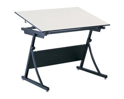 "Safco - Safco PlanMaster Height-Adjustable Drafting Table Base - Safco - Drawing Tables - 3957 - Height-adjustable drafting table base adjusts easily between 30 and 37"" in height and up to 50 degrees in angle with a spring-assisted mechanism. Heavy duty steel base."