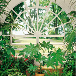 Wintergarden Wall Mural - A lovely greenhouse is the centerpiece of this impressive wall mural.